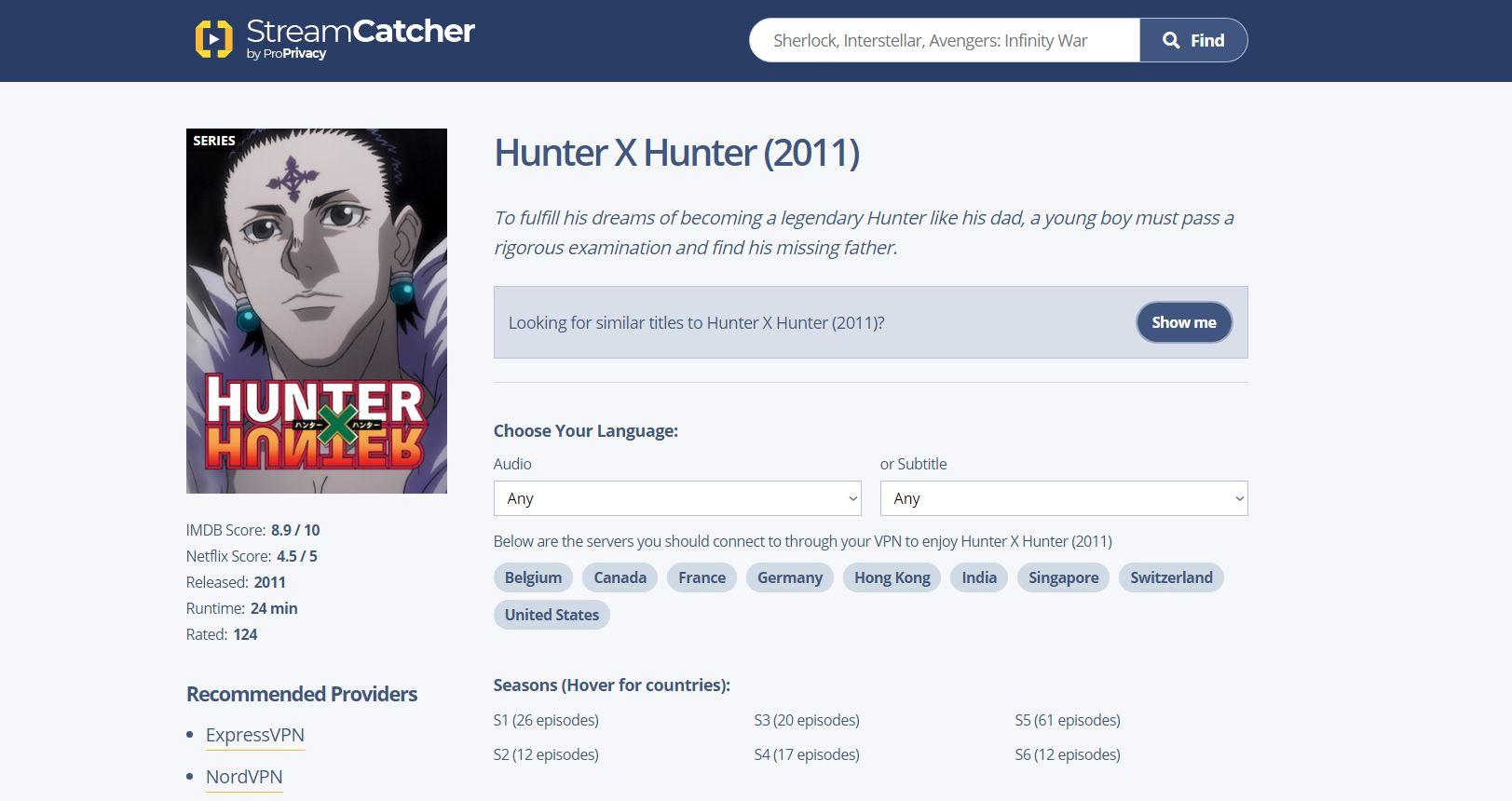 Can You Watch Hunter X Hunter on Netflix?